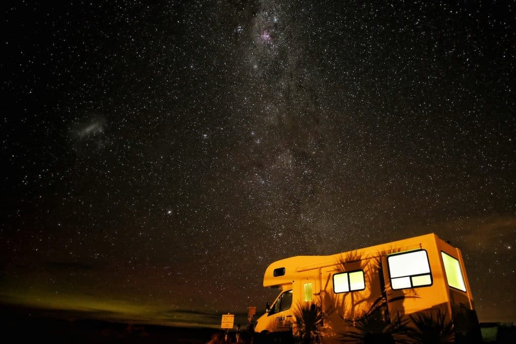 rv camping under the stars
