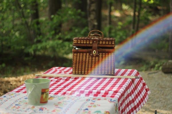 picnic on an outdoor kitchen RV