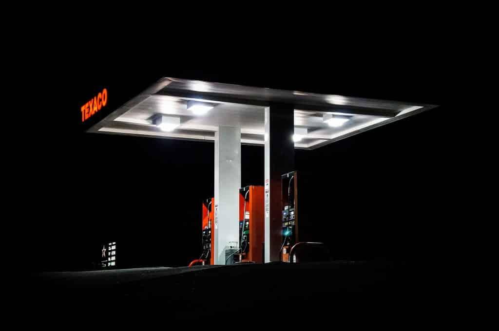 A Texaco gas station