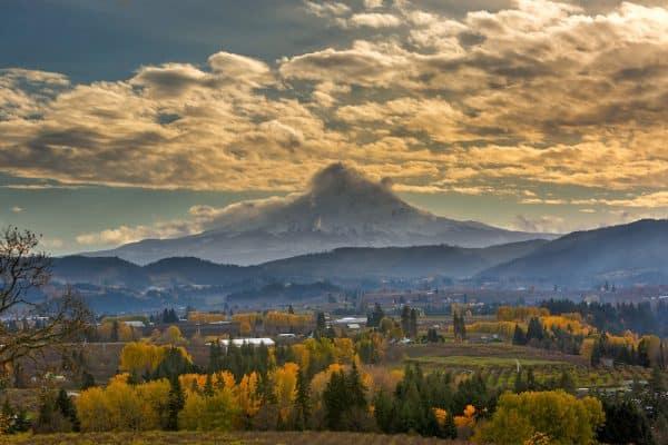 Mount hood near Hood River Oregon