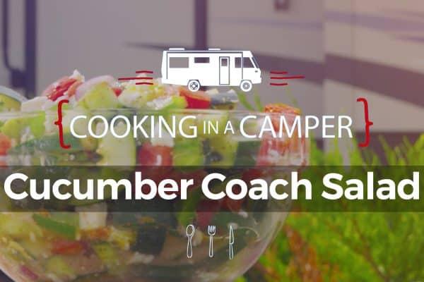 Cooking in a camper Cucumber salad