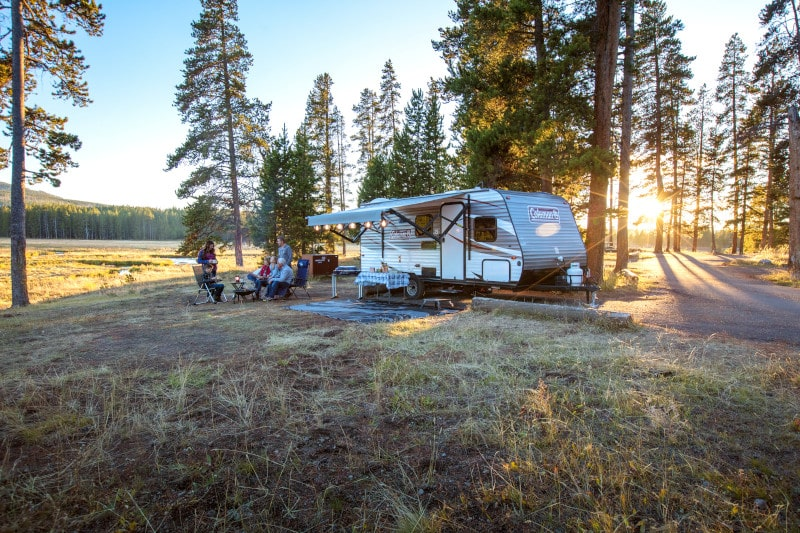 Travel Trailer in Yellowstone National Park