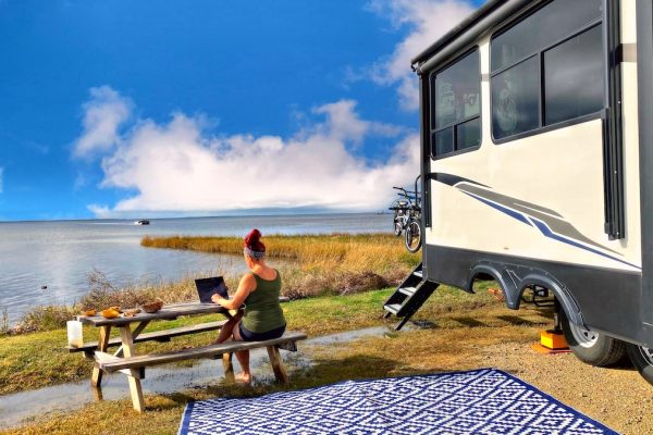 working outside of RV