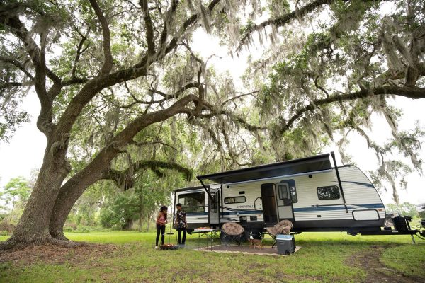 RV camping in the bayou