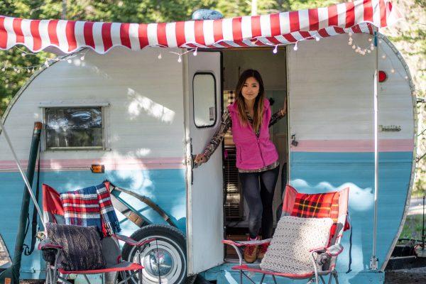 Jenny insider camper at Falls Campground