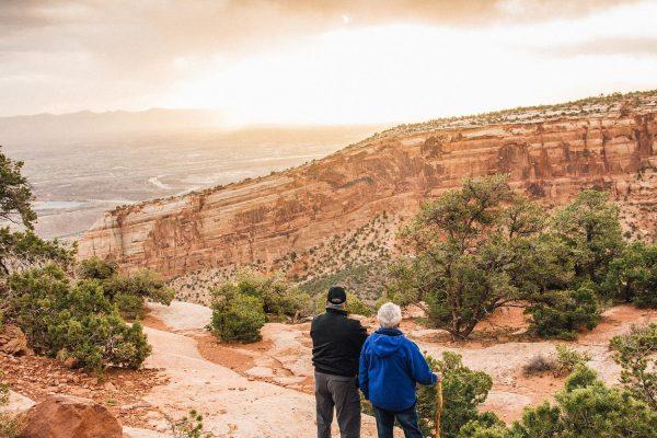 Senior hikers