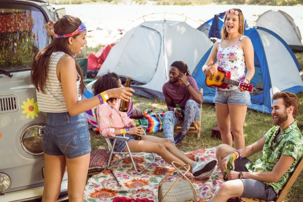 Deck out your campsite at a music festival and make a relaxing lounge space for new and old friends to gather.